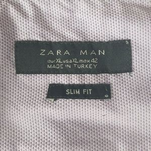 Zara Shirts - Zara Double Collar Flip Cuff Purple Shirt Slim XL
